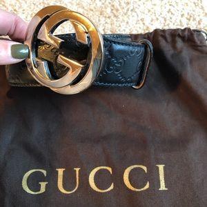 Gucci Black Guccisima leather belt -40/100